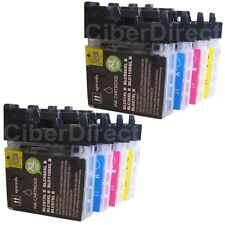 8 compatible BROTHER LC-1100 BK/C/M/Y printer ink cartridges - VAT INVOICE.