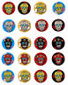 """Day of the Dead 20 sugar skull Halloween stickers scrapbooking 1.5"""" party favor"""
