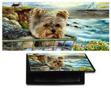 YORKIE CHECKBOOK cover YORKSHIRE TERRIER wallet dog art Morning Ride sea