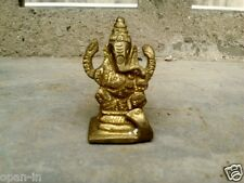 Brass Statue Of Ganesh Ganesha Hindu Elephant Lord of Success And Good Luck