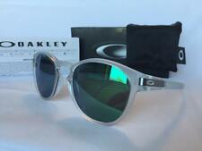 Oakley Latch Matte Clear/Jade Iridium Sunglasses