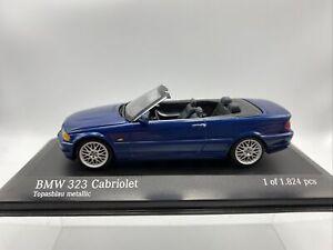 1/43 Minichamps BMW 323 Cabriolet Topasblau Blue Metallic Part # 431028031