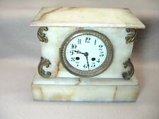 OLD ANTIQUE MARBLE CASE FRENCH MANTEL CLOCK PARTS REPAIR