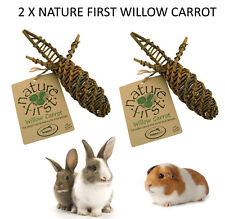 Happy Pet Willow Spiral Natural Treat Toy for Small Animal Rabbit Guinea Pig X2
