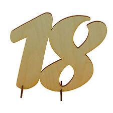 Geburtstag Zahl aus Holz 18 Geschenk 15cm, Hochzeit Jubiläum Aufsteller Deko