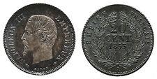 FRANCE Napoléon III 20 centimes, tête nue 1853 Paris