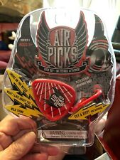 NEW Air Picks Air Guitar Toy Rock and Roll Wild Thing Deep Purple Gag Gift