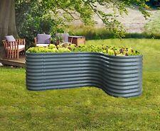 Vitavia Erweiterung CURVE 80x80x86 cm dunkelgrau für Hochbeet Kräuterbeet Garten