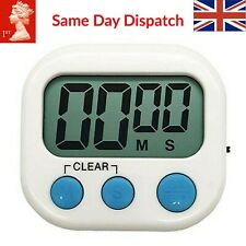 Large LCD Digital Kitchen Egg Cooking Timer Count Down Clock Alarm Stopwatch UK