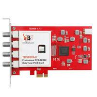 TBS6909X V2 DVB S/S2/S2X 8 PCIe Satellite TV Tuner Card Compatible Tvheadend