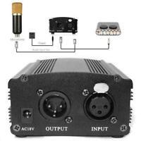 AC 48V Phantom Power Supply USB Power Adapter For Micro Condenser X5P6 T8X6