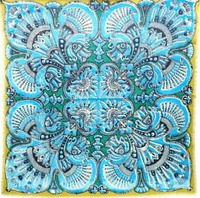 Hermes Carre 90 Scarf Stole Wool Silk Mumbai India Women Turquoise NWT Auth Rare