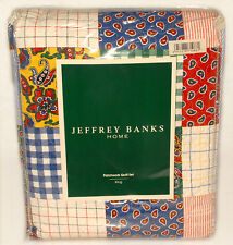 JEFFREY BANKS HOME - Colorful 4 pc Patchwork KING sz BED QUILT SET *NEW in PKG!