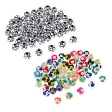 120pcs Mixed-Color Sports Soccer Ball Beads for Sewing Clothes Embellishment