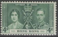 HONG KONG SG137 1937 4c CORONATION MTD MINT