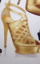 ANNA DELLO RUSSO H&M GOLD SANDALS SIZE UK 8 /EUR 41 / US 10