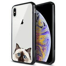 """For Apple iPhone Xs Max 6.5"""" Animal Hard Tpu Black Bumper Case Phone Cover"""