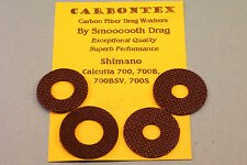 SHIMANO CALCUTTA 700 700B 700BSV & 700S  CARBONTEX CARBON FIBER DRAG WASHER SETS