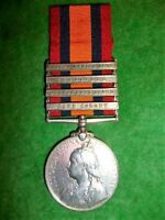 Queen's South Africa Medal 1899-1902, 4 clasps, to a Piper, Cameron Highlanders