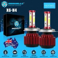 H4 9003 160W 19200LM COB LED Headlight Globes Bulbs Kits High Low Beam 6000K