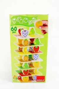 Tower Of Fruits Wooden Game By Goula - Complete - 60 Pieces