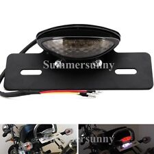 BLACK LED MOTORCYCLE TURN SIGNAL BRAKE LICENSE PLATE INTEGRATED TAIL LIGHT 12V A