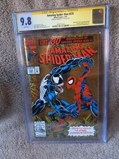 Amazing Spider-Man #375 CGC 9.8 WHITE Pages Signature - Signed by Mark Bagley!
