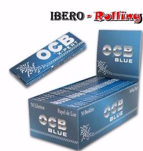 PAPEL DE FUMAR PARA LIAR OCB AZUL X-PERT BLUE ROLLING PAPER, 50 LIBRITOS