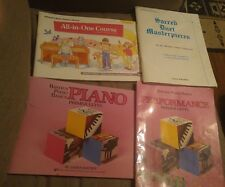 Lot of 3 Children's Piano Books + 1 Sacred Duets - Bastien, Alfred's All-in-One