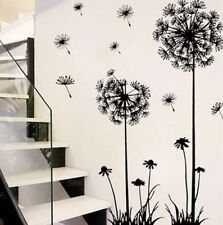 Black Removable Art Vinyl DIY Dandelion Decal Mural Wall Sticker Home Room Decor
