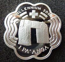 Tonga : 1 Pa'anga 1999 Millennium 2000 / Argent Silver TOP !!!