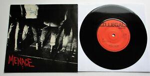 "Menace - Screwed Up UK 1977 Illegal Records 7"" Single P/S"