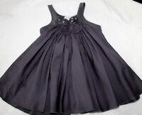Eliane et Lena Paris Lotus Gray Twirly Dress Baby Girl Sz 6 M Chasing Fireflies