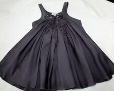 Eliane et Lena Paris Lotus Gray Twirly Dress Baby Girl Sz 6 M Chasing Fireflies