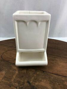 Vintage McCoy Wall Hanging Match Safe Holder Ceramic Pottery