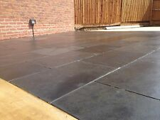 Black Slate✔ Paving  Patio Garden  100x100 Sample 15to20mm Thick ✔FREE✔DELIVERY