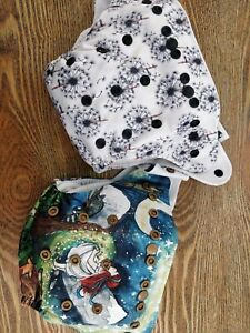 Designer Bums GUC Wishes & Star Child w Inserts resusable nappy MCN Modern Cloth