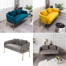 1/2 Seater Sofa Pleated Velvet Armchair Loveseat Love Seat Accent Chair Settee