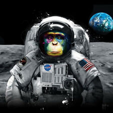 FIRST APE ON THE MOON BY PATRICE MURCIAN ROCK SLATE PRINT AVAILABLE IN 3 SIZES