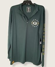 Green Bay Packers NFL Team Apparel Long Sleeve Green Sz L Pullover NWT Zip