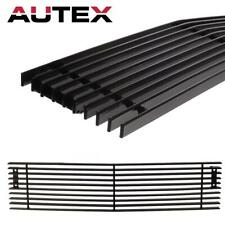 Black Lower Bumper Billet Grille Insert for 15-19 Chevy Silverado 2500HD/3500HD