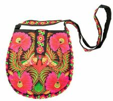 New Simple Floral Embroidery Shoulder Bags Double Ethnic National Travel Beaches
