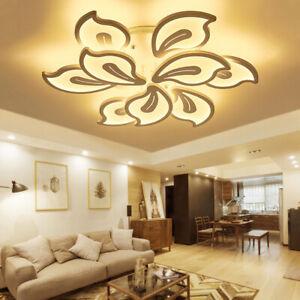Modern LED Ceiling Light Petal Flower Shape Lighting Lounge Bedroom Living Room