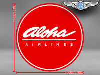 ALOHA AIRLINES ROUND LOGO STICKER / DECAL
