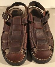6de2d77fc37d Earth Shoe Bjork 2 Fisherman Sandals Leather Upper Mens Sz 11 M Brown Good  Cond!