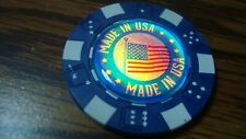 MADE IN USA Holographic 3D image Poker Chip Golf Ball Marker Card Guard  Blue