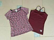 C&A + Tchibo Set Sport Fitness Shirts Tops lila Gr. 134 / 140 NEU u. wie Neu