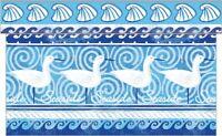1 Tischläufer Seaside in Blau aus Linclass® Airlaid 40 cm x 4,80 m - Maritim