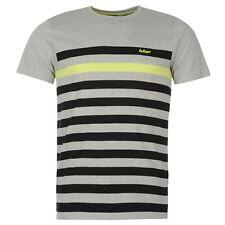 Mens Lee Cooper Short Sleeves Striped Yarn Dye Crew Neck T Shirt Top Size M-XXL