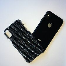 Bling Case for iPhone X with Swarovski Crystals - 16ss Jet Hematite HandMade